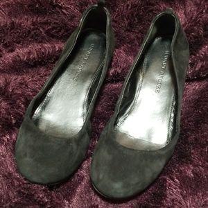 Audrey Brooke black suede ballet flats (A2)